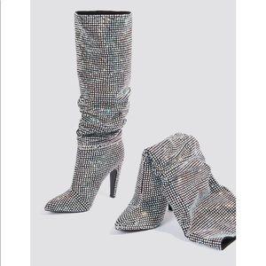 3430c5b510b Steve Madden Shoes - Steve Madden crushing black multi crystal boots 6